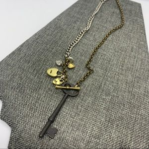Fossil Key Necklace